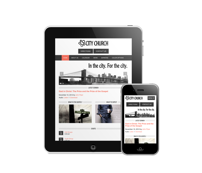 Responsive, mobile-friendly WordPress websites for your Church, Nonprofit, or Small Business