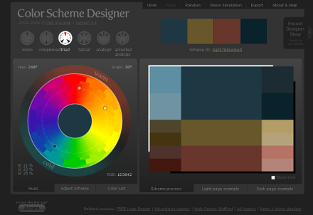 Color Scheme Designer screenshot