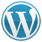 blue WordPress logo