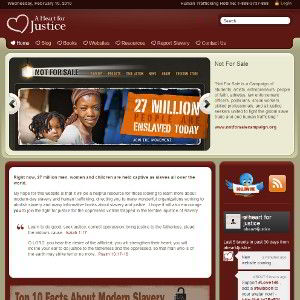 A Heart for Justice homepage