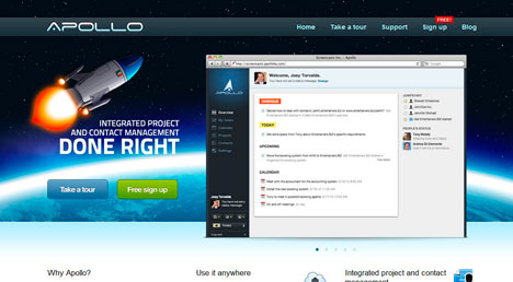 Apollo CRM screenshot