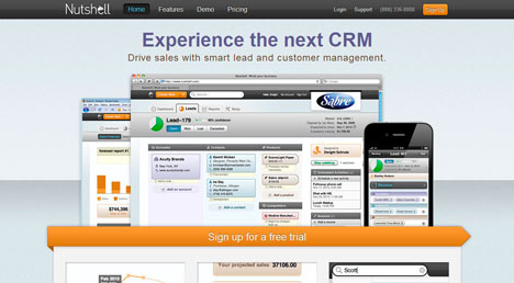 Nutshell CRM screenshot