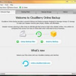 The Welcome Page for CloudBerry Online Backup