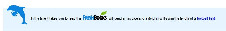 FreshBooks, invoices, and dolphins