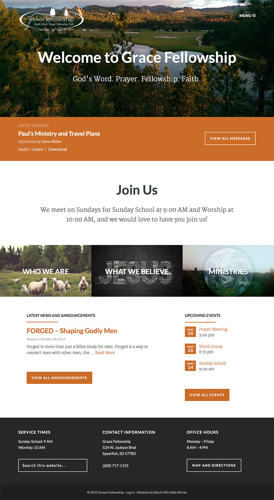 Grace Fellowship Home page