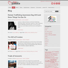A Heart for Justice blog