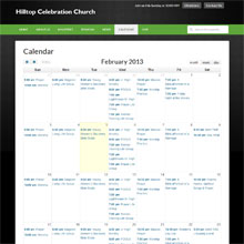 Hilltop Celebration Church - Calendar