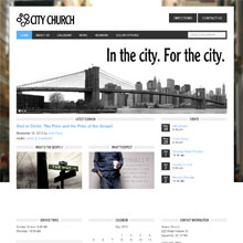 City Church Design Template - Blue