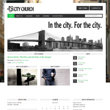 City Church Design Template - Green
