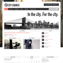 City Church Design Template - Orange