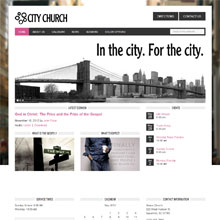 City Church Design Template - Pink