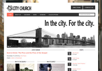 City Church Design Template