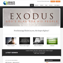 Grace Church Design Template - Black
