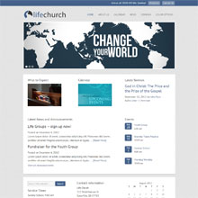 Life Church Design Template - Blue