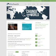 Life Church Design Template - Green