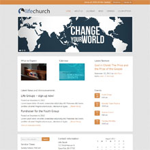 Life Church Design Template - Orange