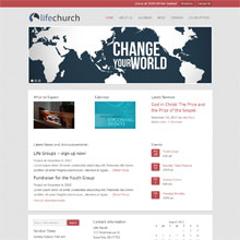 Life Church Design Template - Red