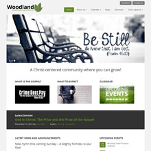 Woodland Church Design Template - Green