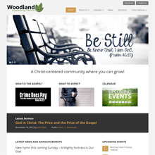 Woodland Church Design Template - Orange