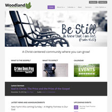 Woodland Church Design Template - Purple