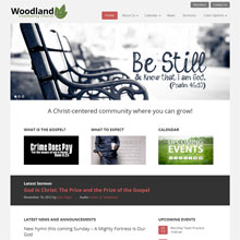 Woodland Church Design Template - Red
