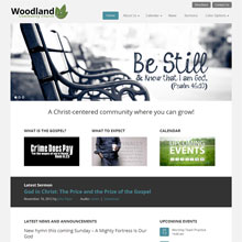 Woodland Church Design Template - Teal