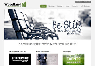 Woodland Church Design Template