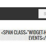 How to fix StudioPress Metro theme widget titles