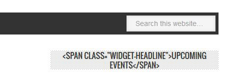 Metro theme widget title showing span tags