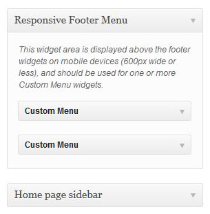 Responsive Footer Menu Widgets