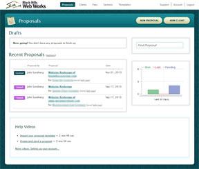 Bidsketch dashboard screenshot