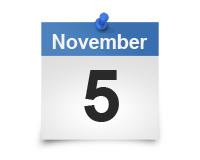 November 5 calendar icon