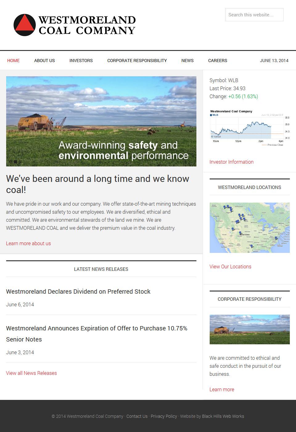 Westmoreland Coal Company Home page